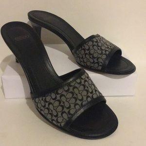 NWOT Coach Louise black kitten heels